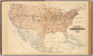 Topographical map of the United States. / Andreas, A. T. (Alfred Theodore), 1839-1900 / 1873