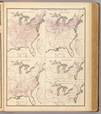 Population, United States Census, 1870: Density, foreign, colored, British American, Swedish and Norwegian. / Andreas, A. T. (Alfred Theodore), 1839-1900 / 1874