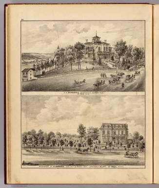 J.C. Burbank and R. Barden residences, St. Paul, Minn. / Andreas, A. T. (Alfred Theodore), 1839-1900 / 1874