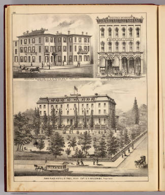 Park Place Hotel, Greenman House, Noyes Brothers & Cutler, St. Paul, Minn. / Andreas, A. T. (Alfred Theodore), 1839-1900 / 1874
