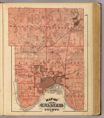 Of Ramsey County Minn Andreas A T Alfred Theodore - Minn map