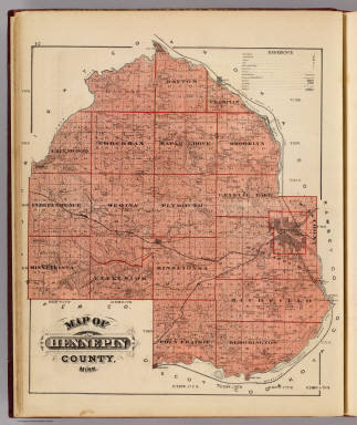 Map of Hennepin County, Minn. / Andreas, A. T. (Alfred Theodore), 1839-1900 / 1874