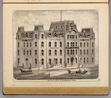 The City Hall of Minneapolis, Minn. / Andreas, A. T. (Alfred Theodore), 1839-1900 / 1874