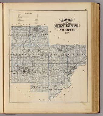 Map of Carver County, Minn. / Andreas, A. T. (Alfred Theodore), 1839-1900 / 1874