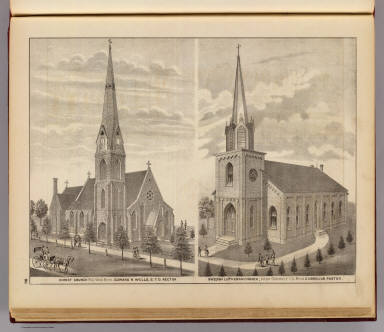 Christ Church, Red Wing and Swedish Lutheran Church, Vasa, Minn. / Andreas, A. T. (Alfred Theodore), 1839-1900 / 1874