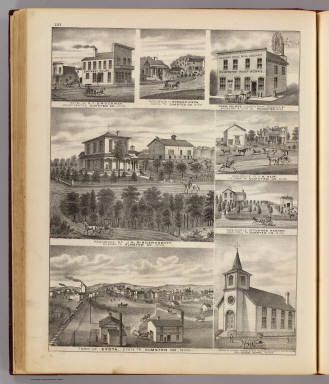 Residences, businesses, and Town of Eyota, Olmsted Co. and Rochester, Minn. / Andreas, A. T. (Alfred Theodore), 1839-1900 / 1874