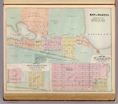 Map of Waseca, Map of East Janesville, Map of Wilton, Minn. / Andreas, A. T. (Alfred Theodore), 1839-1900 / 1874