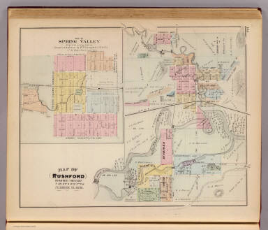 of Rushford Fillmore Co Minn Map of Spring Valley Andreas