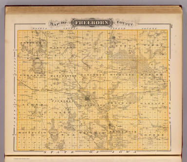 Map Of Freeborn County Andreas A T Alfred Theodore