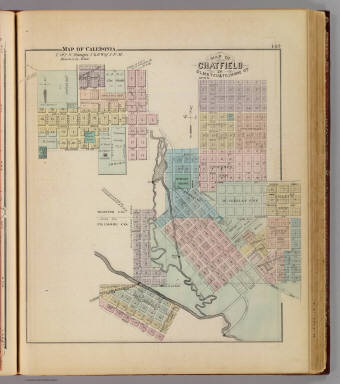Map of Chatfield, Map of Caledonia, Minn. / Andreas, A. T. (Alfred Theodore), 1839-1900 / 1874