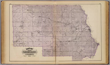 Map Of Stearns County Minn Garrison O E Oscar E