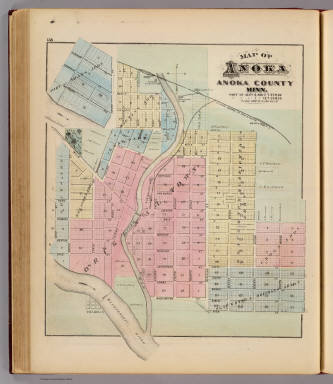 Map of Anoka, Anoka County, Minn. / Andreas, A. T. (Alfred Theodore), 1839-1900 / 1874