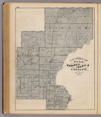 Counties Of Pine Kanabec Isanti Chisago Minn 1874 Andreas A T Alfred Theodore 1839 1900 1874