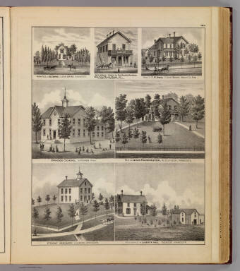 School, seminary, residences and business in Hutchinson, Glencoe, Clear Water and Kingston, Minn. / Andreas, A. T. (Alfred Theodore), 1839-1900 / 1874