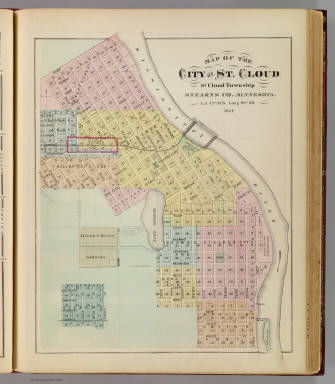 Map of the City of St. Cloud ... Minnesota. / Andreas, A. T. (Alfred Theodore), 1839-1900 / 1874