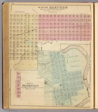 Map of Glencoe, Map of Henderson, Minn. / Andreas, A. T. (Alfred Theodore), 1839-1900 / 1874
