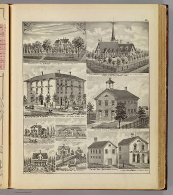 Residences, church, hotel, school, jail, store, St. Cloud, Sauk Centre, Willmar, Moorhead and Lac Qui Parle Co., Minn. / Andreas, A. T. (Alfred Theodore), 1839-1900 / 1874