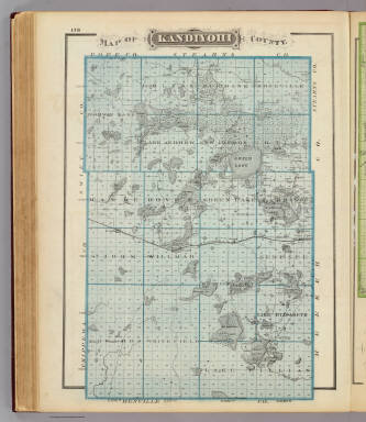 Map of Kandiyohi County. / Andreas, A. T. (Alfred Theodore), 1839-1900 / 1874