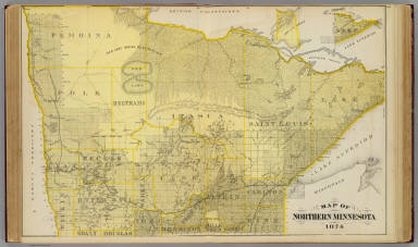 Map of Northern Minnesota, 1874. / Andreas, A. T. (Alfred Theodore), 1839-1900 / 1874