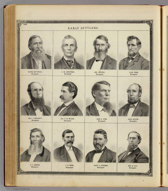(Portraits of) Early settlers: Pierre Bottineau, C.W. Christmas, et al. / Andreas, A. T. (Alfred Theodore), 1839-1900 / 1874