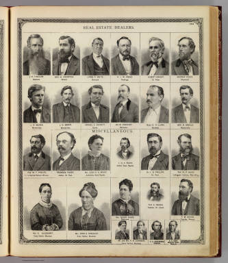 (Portraits of) Real estate dealers and miscelaneous. / Andreas, A. T. (Alfred Theodore), 1839-1900 / 1874