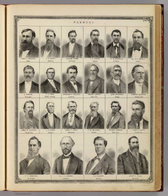 (Portraits of) Farmers: Frank L. Meachum, J.R. Smith, et al. / Andreas, A. T. (Alfred Theodore), 1839-1900 / 1874