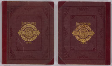 (Covers to) An illustrated historical atlas of the State of Minnesota. Published by A.T. Andreas, Lakeside Building, Chicago, Ills. 1874. Chas. Shober & Co. Proprietors of Chicago Lith. Co.