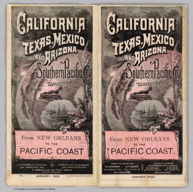 Cover: California, Texas, Mexico and Arizona Southern Pacific Co. / Southern Pacific Company / 1892