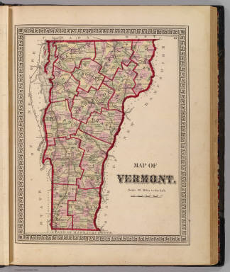 Map of Vermont. (Published by H.W. Burgett & Co. 36 Vesey Street, New-York. 1876. Entered ... 1876 by H.W. Burgett & Co. ... Washington D.C. Engraved & printed by J.B. Beers & Co. 36 Vesey St. N.Y.)