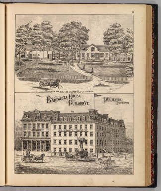 Bardwell House, Rutland, Vt., Stock farm, residence / Packard, H. S.; H.W. Burgett and Company; Beers, J.B. & Co. / 1876