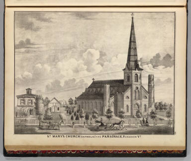 St. Mary's Church, Catholic, and parsonage, Fairhaven, Vt. / H.W. Burgett and Company; Beers, J.B. & Co. / 1876