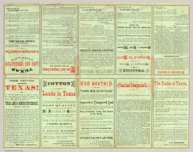 Verso: State of Texas. / Texas Land and Immigration Company / 1876