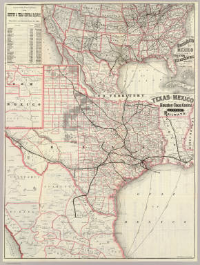 Map Of Texas Mexico.Texas And Mexico Houston And Texas Central Railways Houston And