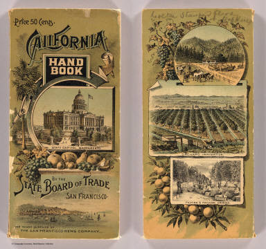 (Covers to:) California hand book with state and county maps by the California State Board of Trade in association supported by voluntary contributions. San Francisco. (1892?)