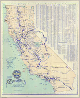 Map of California. / Southern Pacific Company / 1901