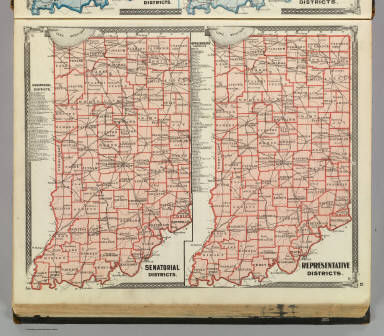 Senatorial districts. Representative districts (Indiana) / Andreas, A. T. (Alfred Theodore), 1839-1900; Baskin, Forster and Company / 1876