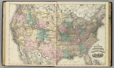 New railroad map of the United States and Cominion of Canada. (Published by Baskin, Forster & Co. Lakeside Building Chicago, Ills. 1876. Engraved & Printed by Chas. Shober & Co. Props. of Chicago Lithographing Co.)