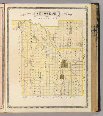 Map of St. Joseph County. / Andreas, A. T. (Alfred Theodore), 1839-1900; Baskin, Forster and Company / 1876