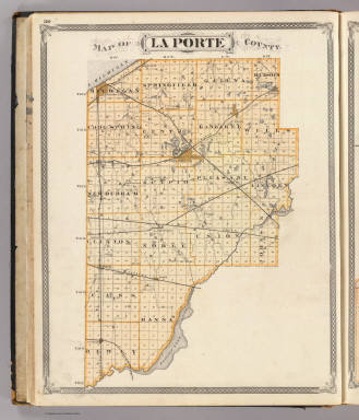 Map of La Porte County. / Andreas, A. T. (Alfred Theodore), 1839-1900; Baskin, Forster and Company / 1876