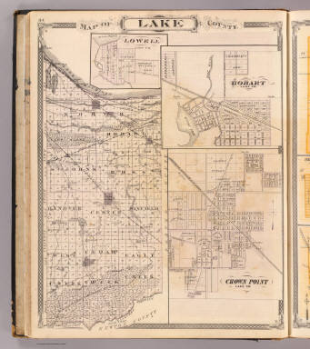 Map of Lake County (with) Lowell, Hobart, Crown Point. / Andreas, A. T. (Alfred Theodore), 1839-1900; Baskin, Forster and Company / 1876