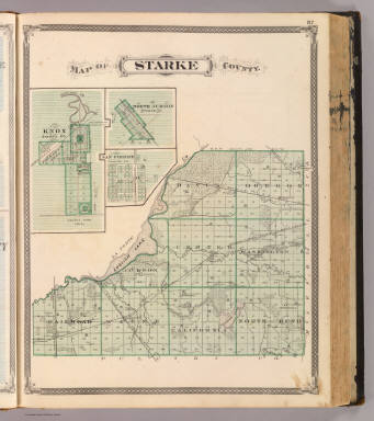 Map Of Starke County With Knox North Judson San Pierre