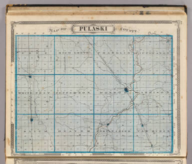 Map of Pulaski County. / Andreas, A. T. (Alfred Theodore), 1839-1900; Baskin, Forster and Company / 1876