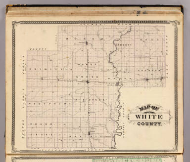 Map of White County. / Andreas, A. T. (Alfred Theodore), 1839-1900; Baskin, Forster and Company / 1876