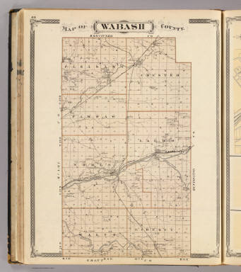 Map Of Wabash County Andreas A T Alfred Theodore - The old map company