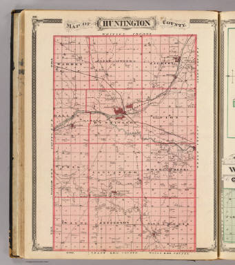 Map of Huntington County. / Andreas, A. T. (Alfred Theodore), 1839-1900; Baskin, Forster and Company / 1876