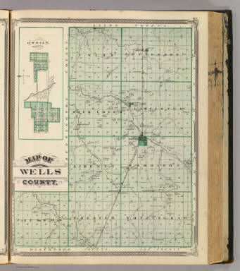 Map of Wells County. (with) Ossian, Wells Co. / Andreas, A. T. (Alfred Theodore), 1839-1900; Baskin, Forster and Company / 1876
