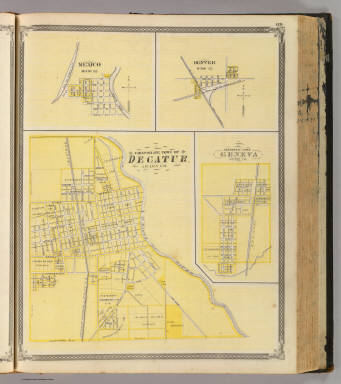 Corporate Town of Decatur, Adams Co. (with) Mexico, Denver, Geneva. / Andreas, A. T. (Alfred Theodore), 1839-1900; Baskin, Forster and Company / 1876