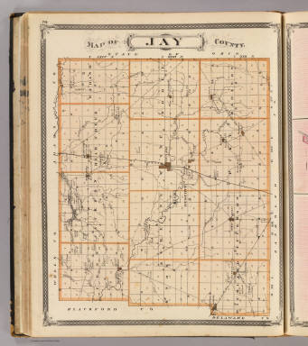 Map of Jay County. / Andreas, A. T. (Alfred Theodore), 1839-1900; Baskin, Forster and Company / 1876