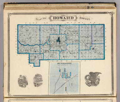 Map of Howard County (with) Russiaville. / Andreas, A. T. (Alfred Theodore), 1839-1900; Baskin, Forster and Company / 1876
