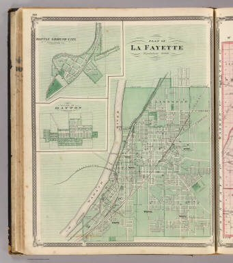 Plan of La Fayette (with) Battle Ground City, Village of Dayton. / Andreas, A. T. (Alfred Theodore), 1839-1900; Baskin, Forster and Company / 1876